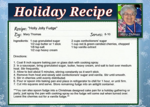 Mary Thomas recipe