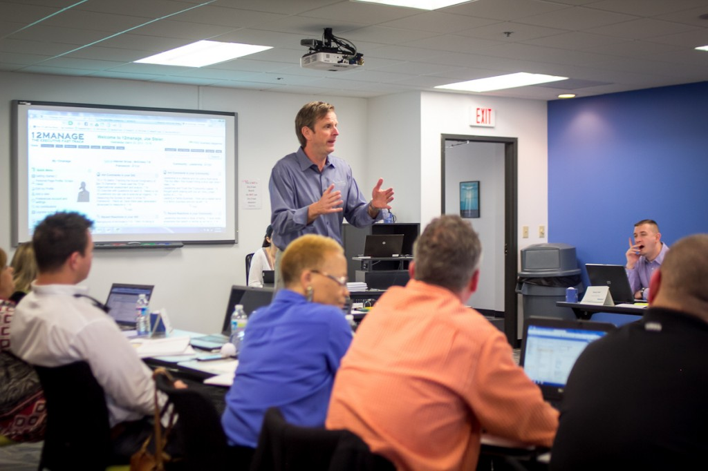Joe Steier teaching during CEO School