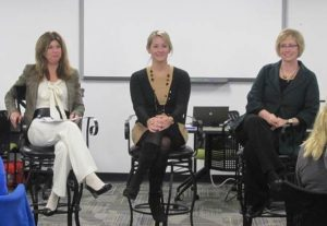Dianne Timmering, Alicia Heazlitt, and myself in a panel presentation during CEO School